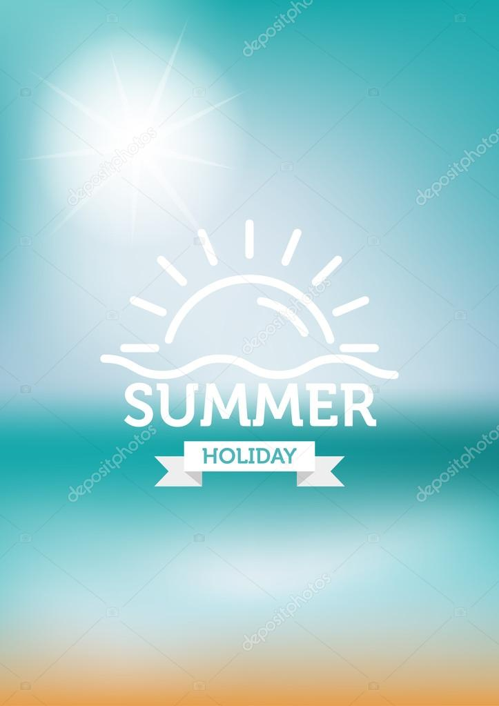 summer background with logo