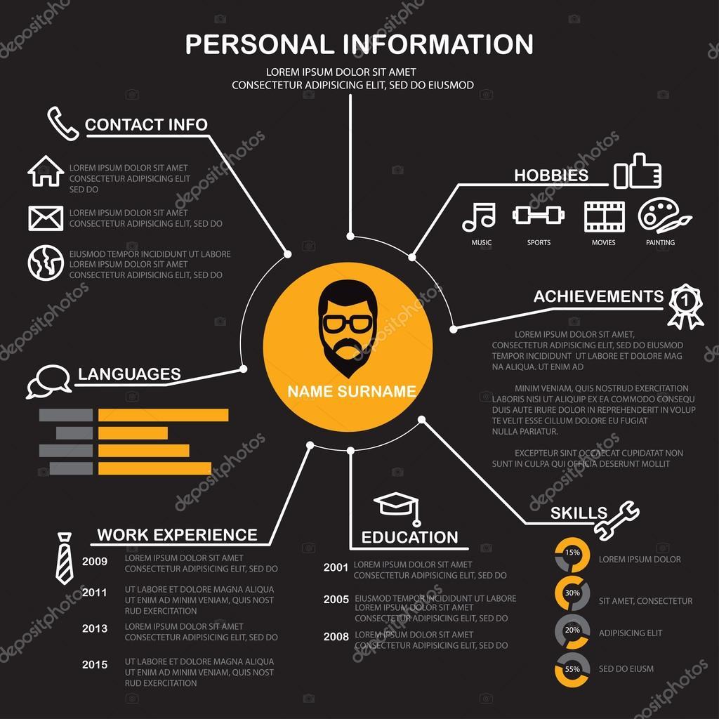 cv  avk  sjabloon infographics achtergrond  u2014 stockvector