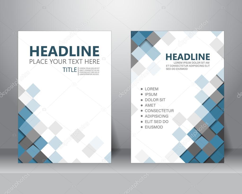 plantilla de diseño folleto flyer — Vector de stock © wongwichainae ...