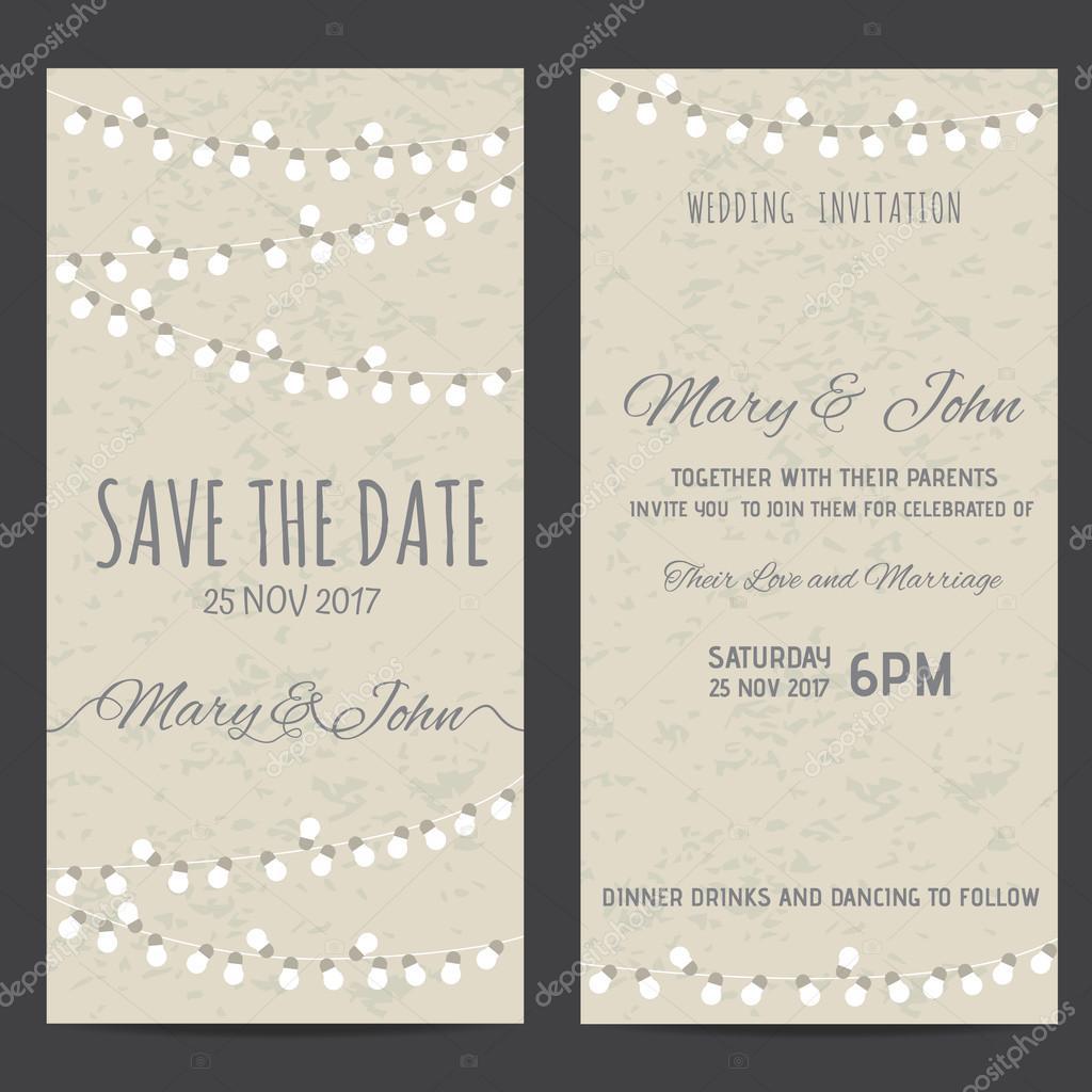 wedding invitation card — Stock Vector © wongwichainae.gmail.com ...