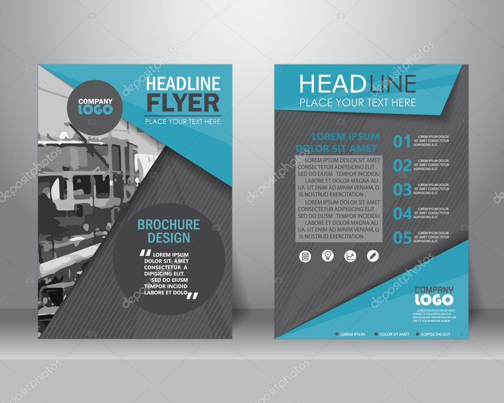 Broschüre-Flyer-Design-Vorlage. Vektor — Stockvektor © wongwichainae ...
