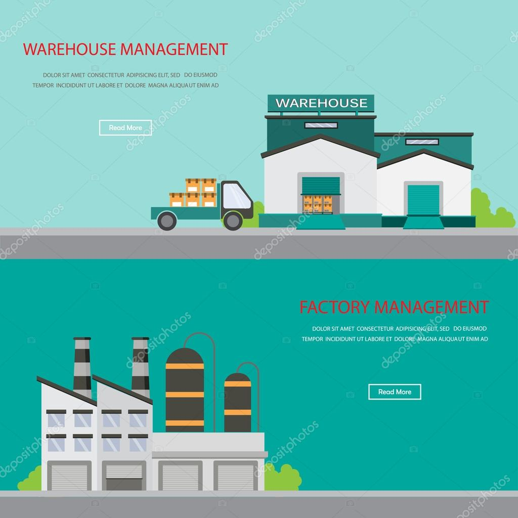 warehouse and  factory banner
