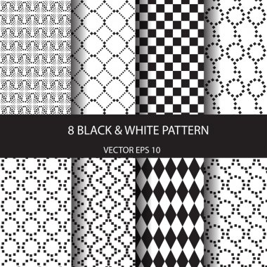 set of different patterns