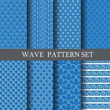 waves pattern set