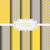 10 different yellow and gray patterns