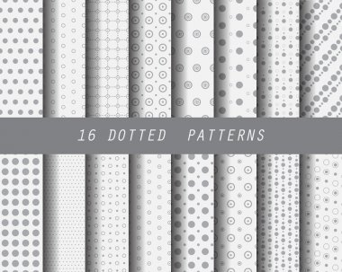 16 dotted patterns