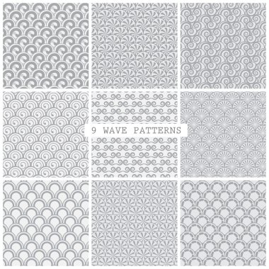 Gray wave traditional patterns. Endless texture can be used for wallpaper, pattern fills, web page background,surface textures. stock vector