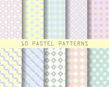 10 retro geometric patterns