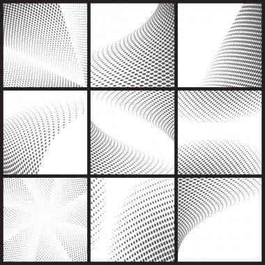 Black dots halftone background