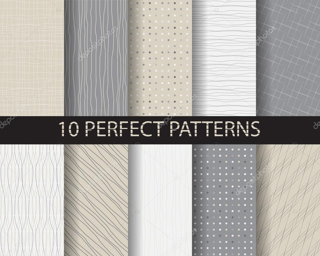 10 different beautiful classic linear and dot patterns