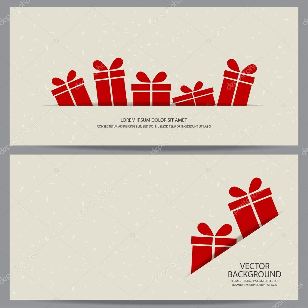 Christmas And New Year Gift Vouchers Stock Vector C Wongwichainae