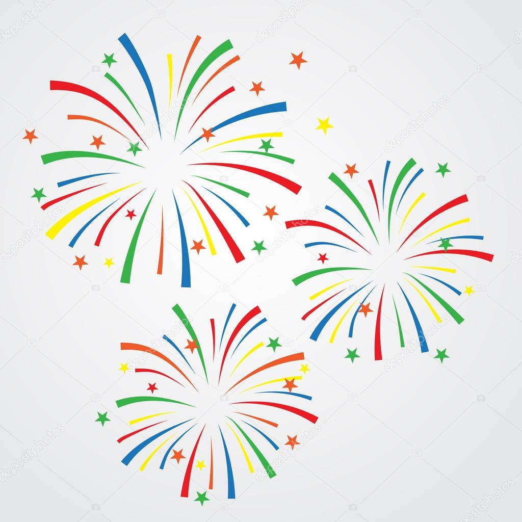 sparkles and fireworks background ストックベクター wongwichainae