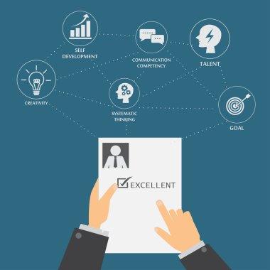 HR infographics, business concept for job recruitment