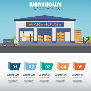 warehouse infographics, design element