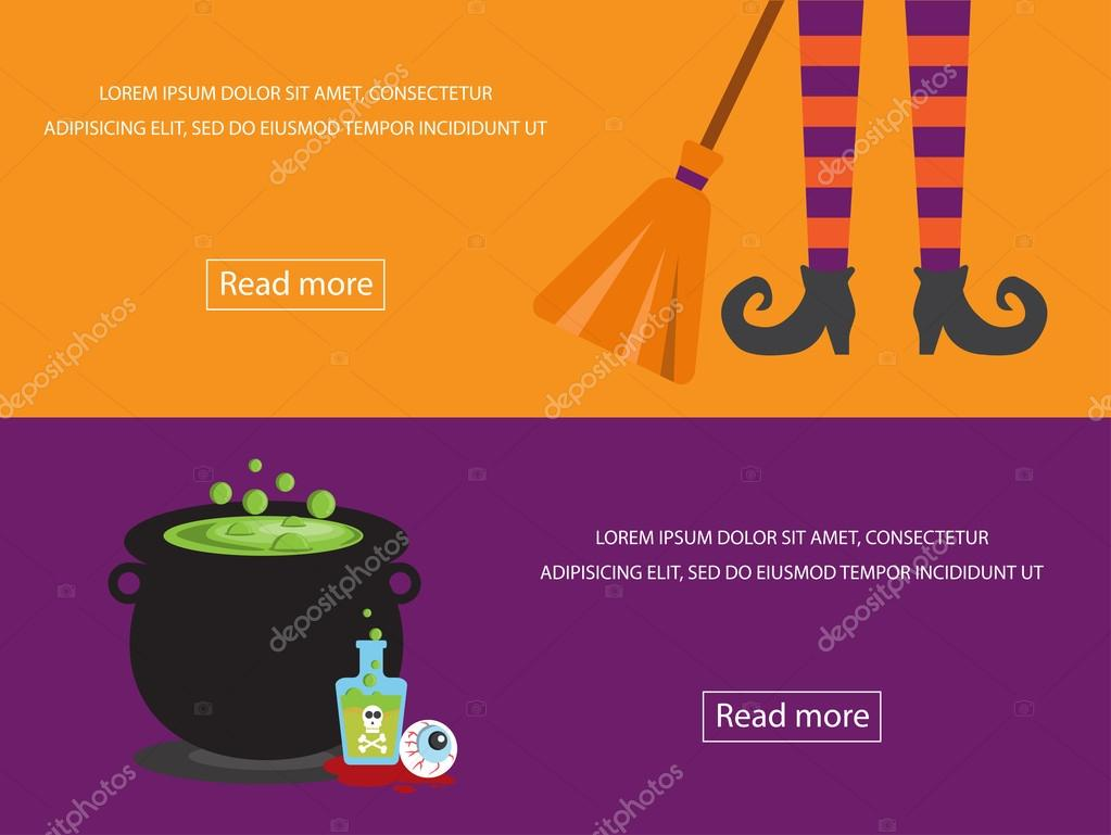 Halloween banner design element for cafe and restaurant — Stock ...