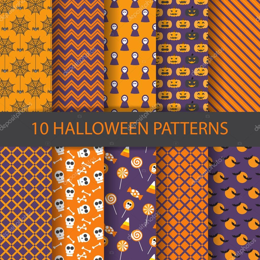Halloween Pattern Wallpaper.Halloween Pattern Set Vector Design For Background And Wallpaper Vector Image By C Wongwichainae Gmail Com Vector Stock 94882854