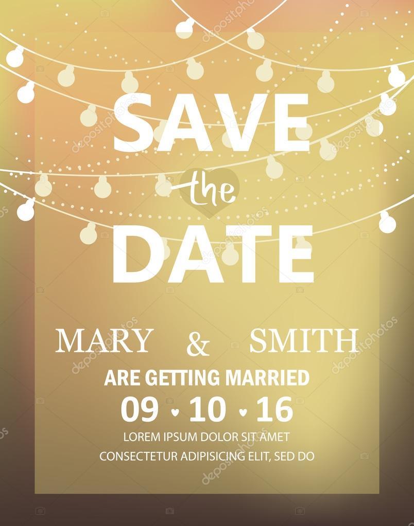 modern wedding invitation card — Stock Vector © wongwichainae.gmail ...