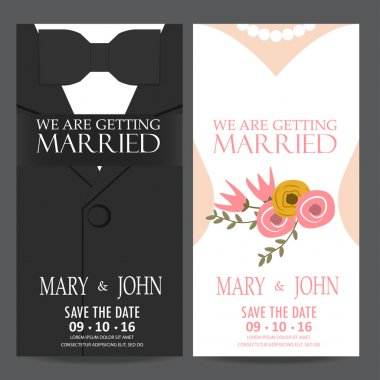 bride and groom,wedding invitation cards