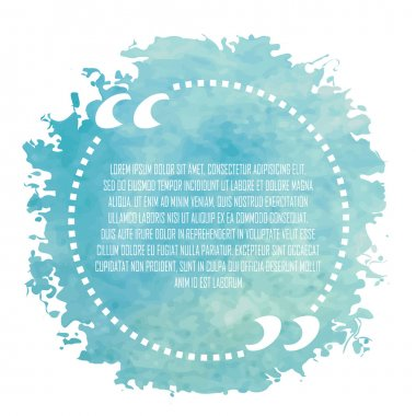 Blue circle quote on white background
