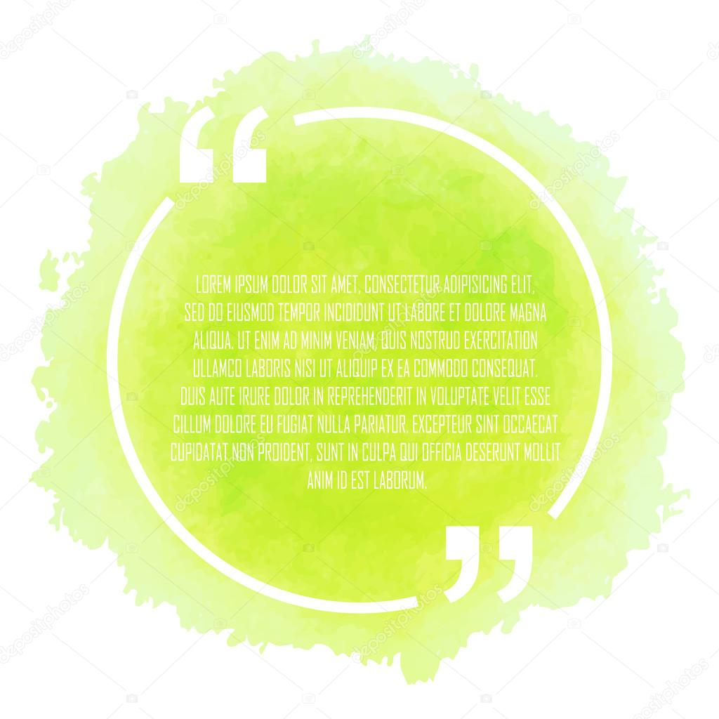 Circle white quote on green background