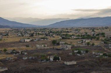 Ruins of Agdam city in Nagorno Karabakh Republic. Azerbaijan - A