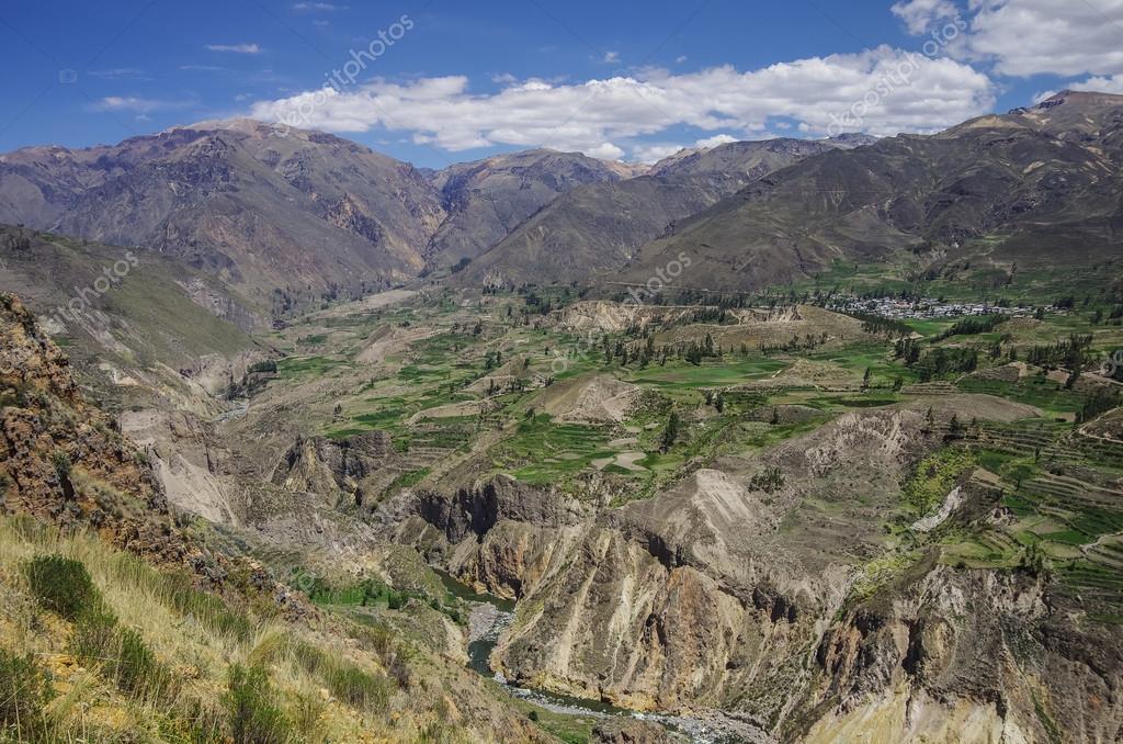 Cañón Del Colca Panorama Perú Sur América Incas Para