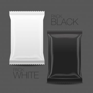 Blank Foil Food Snack pack For Chips, Spices, Coffee, Salt, and other products.