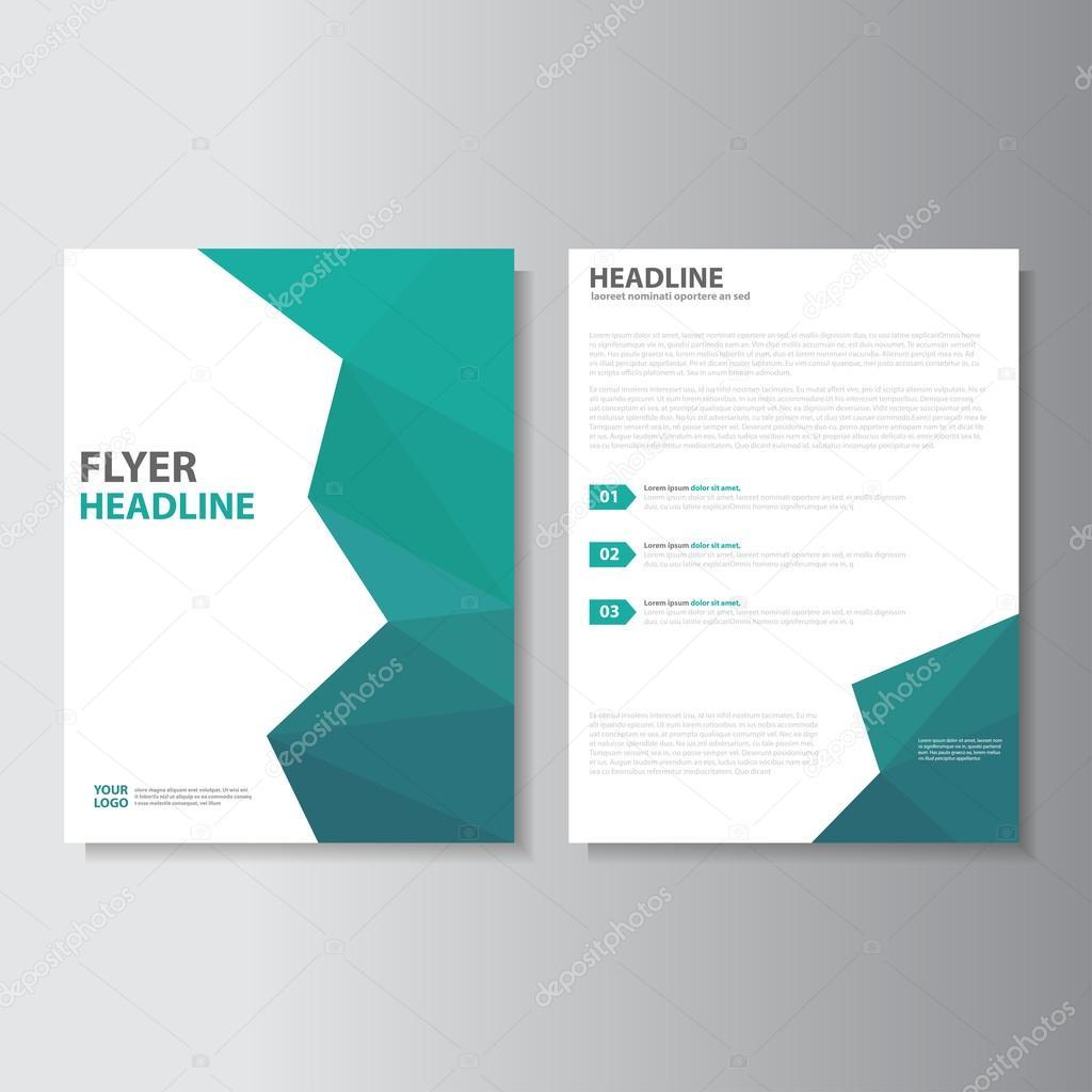 Vektor-Leaflet Prospekt Flyer Vorlage A4 Größe Design, jährlicher ...
