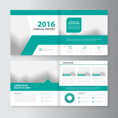 Vector Leaflet Brochure Flyer template design, annual report book cover layout design, Abstract green presentation templates