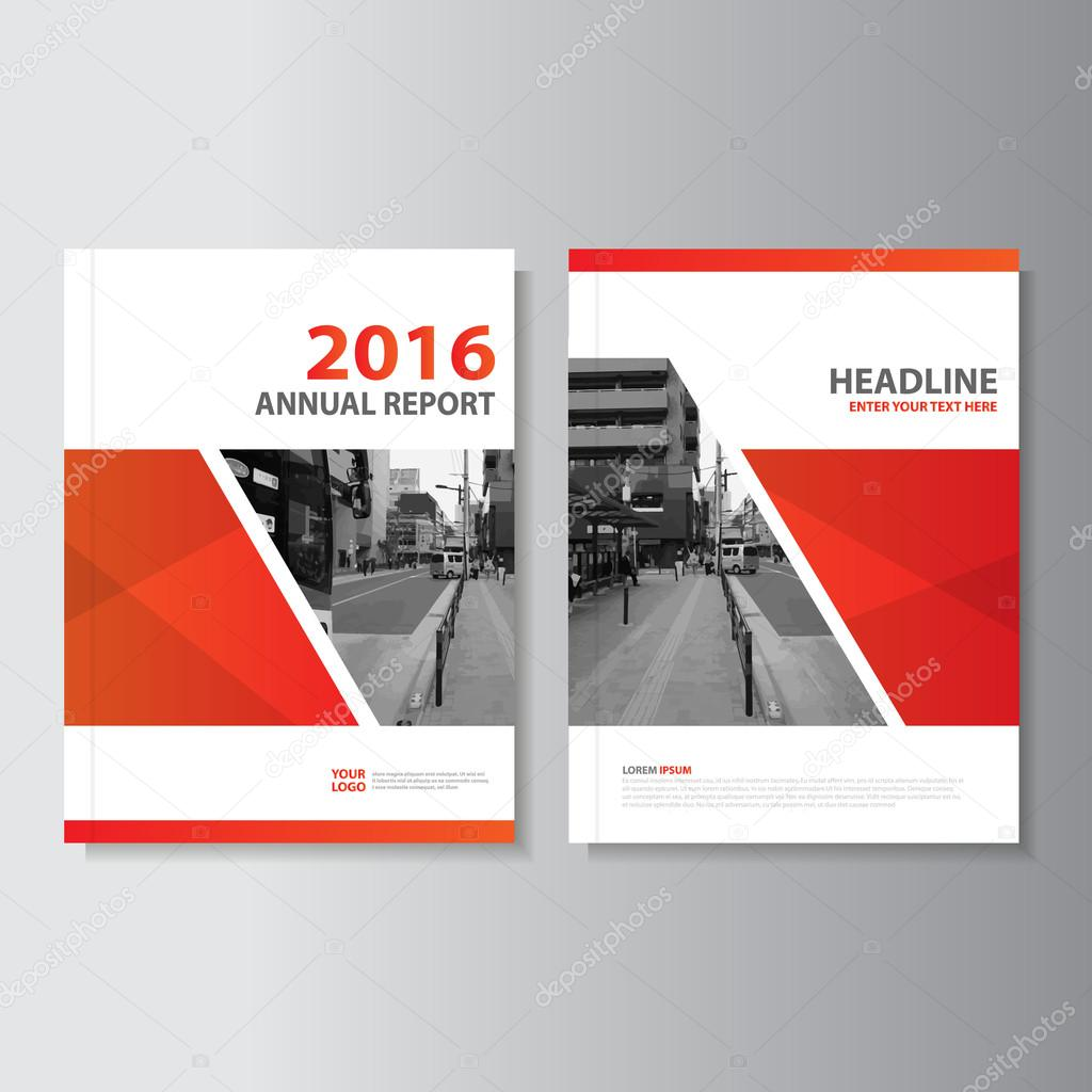 Red Vector Annual Report Leaflet Brochure Flyer Template Design - Brochure flyer templates