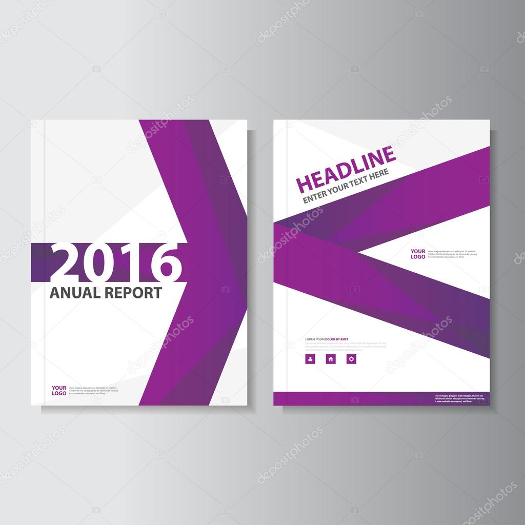 Púrpura anual Informe folleto folleto Flyer plantilla diseño ...