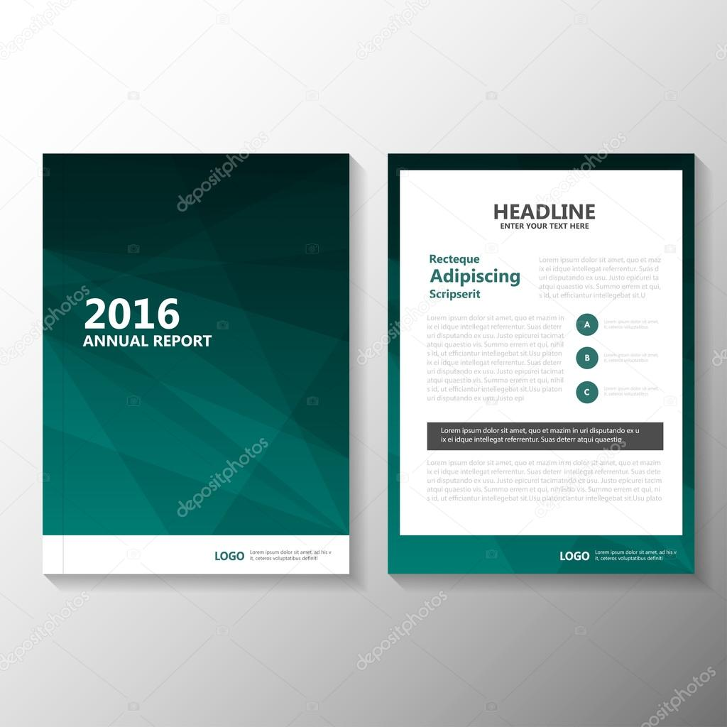 Abstract Business Green Vector Annual Report Leaflet
