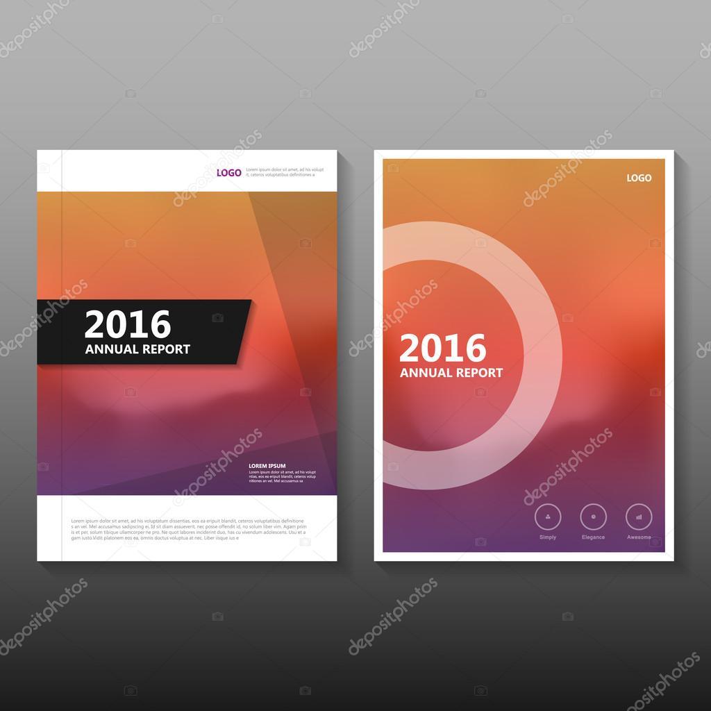 Book Cover Illustration Rates : Circle minimal orange purple vector annual report leaflet