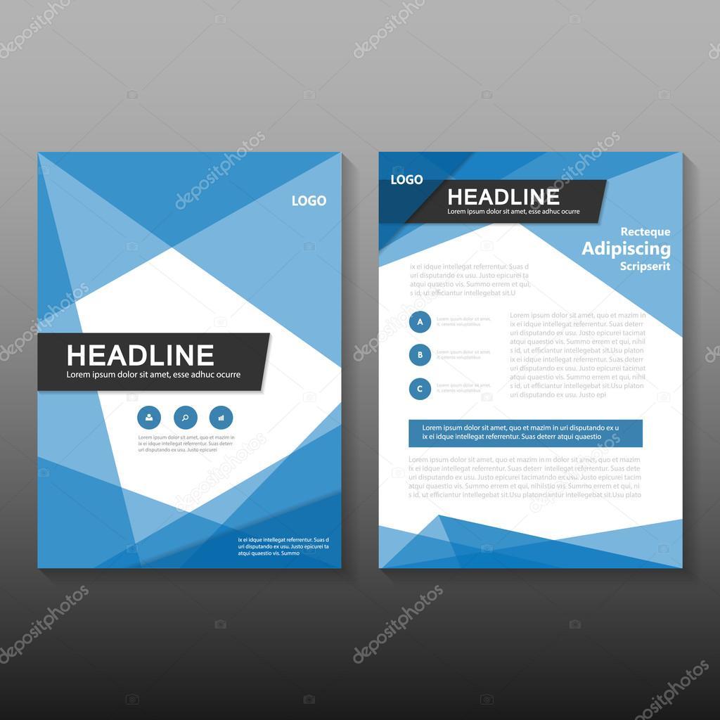 Blaue Dreieck Polygon Vektor jährlichen Bericht Leaflet Prospekt ...