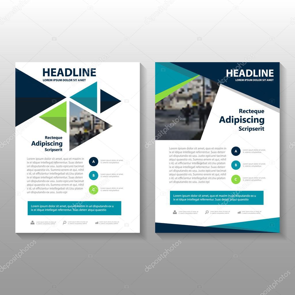 Azul verde morado Vector folleto folleto plantilla diseño de Flyer ...