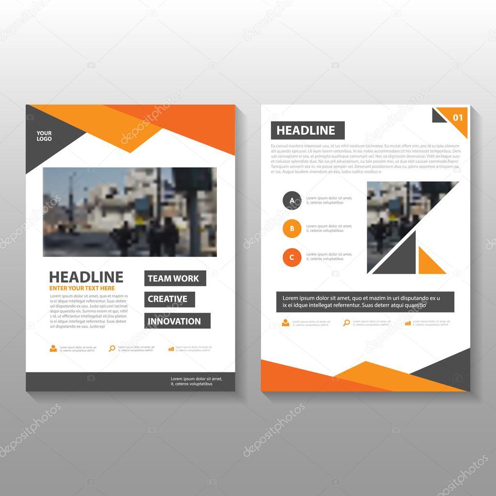 Naranja Vector anual Informe folleto folleto Flyer plantilla de ...