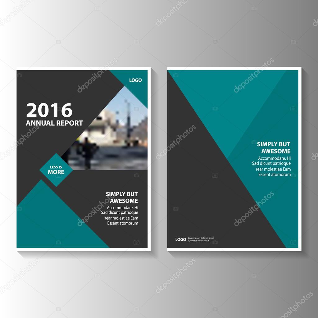 Verde y negro anual Informe folleto folleto Flyer plantilla diseño ...