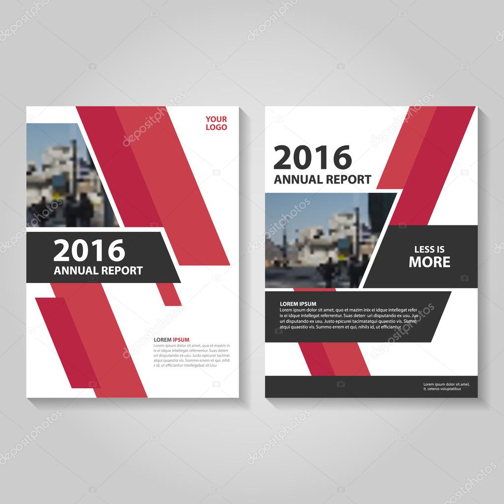 Red Book Cover Design ~ Red black vector annual report leaflet brochure flyer