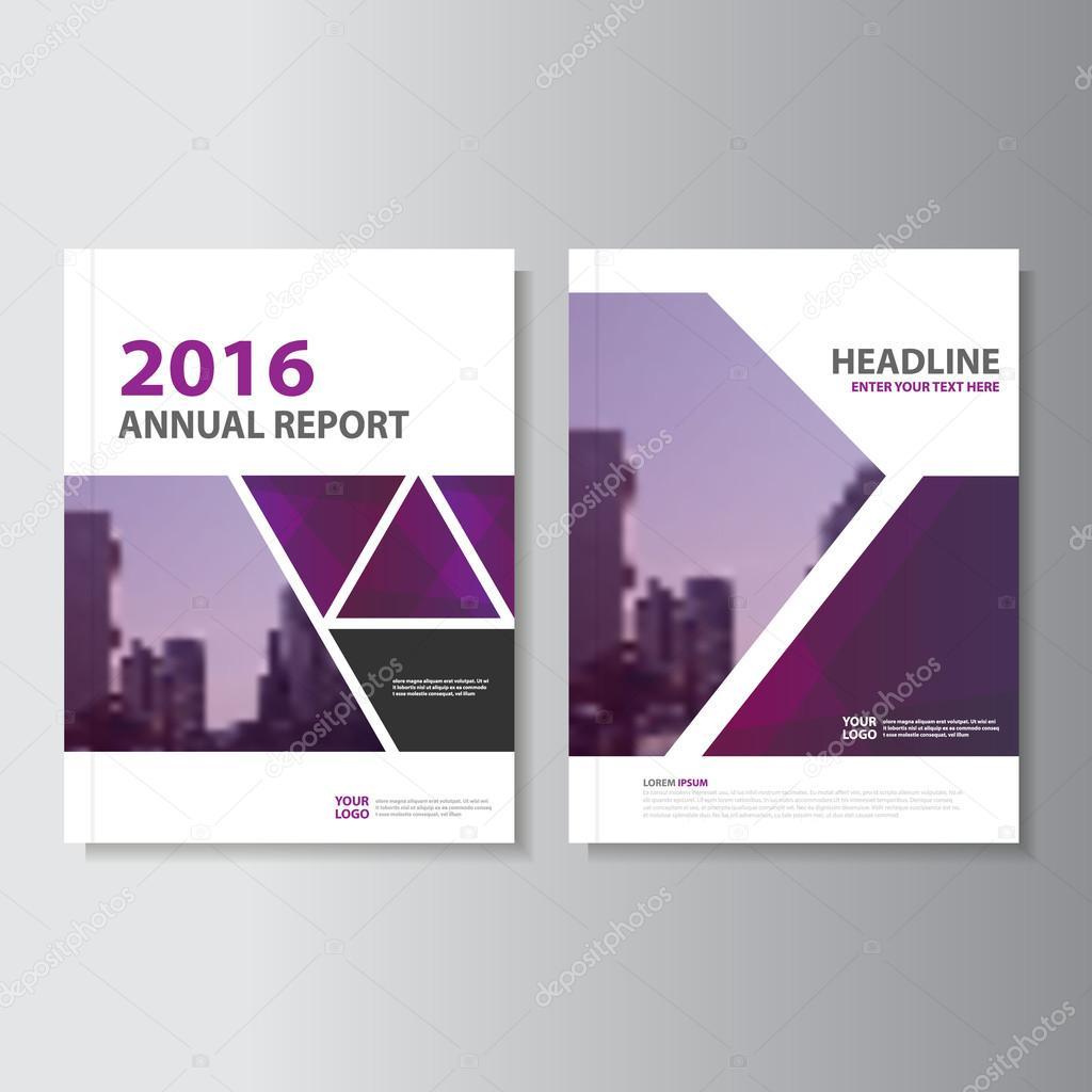 Triángulo círculo vectorial anual Informe folleto folleto plantilla ...