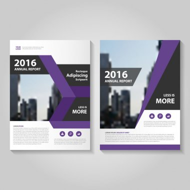 Elegance Purple Vector annual report Leaflet Brochure Flyer template design, book cover layout design, Abstract purple presentation templates