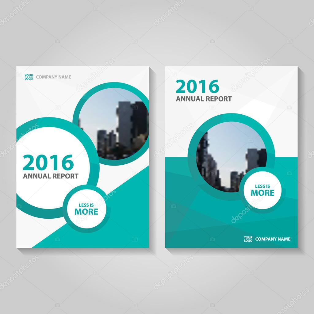 Circle Green Vector Annual Report Leaflet Brochure Flyer Template - Brochure flyer templates