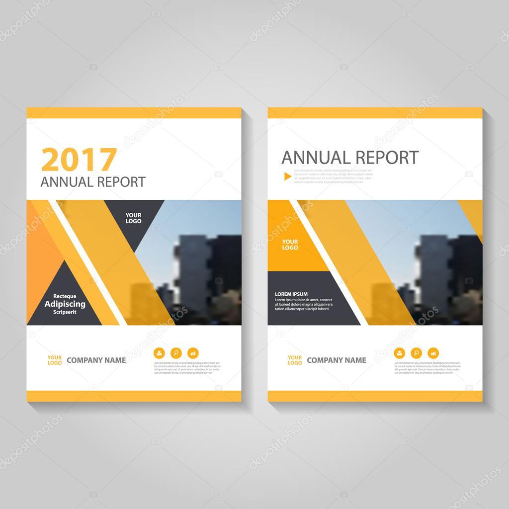 orange black vector annual report leaflet brochure flyer template