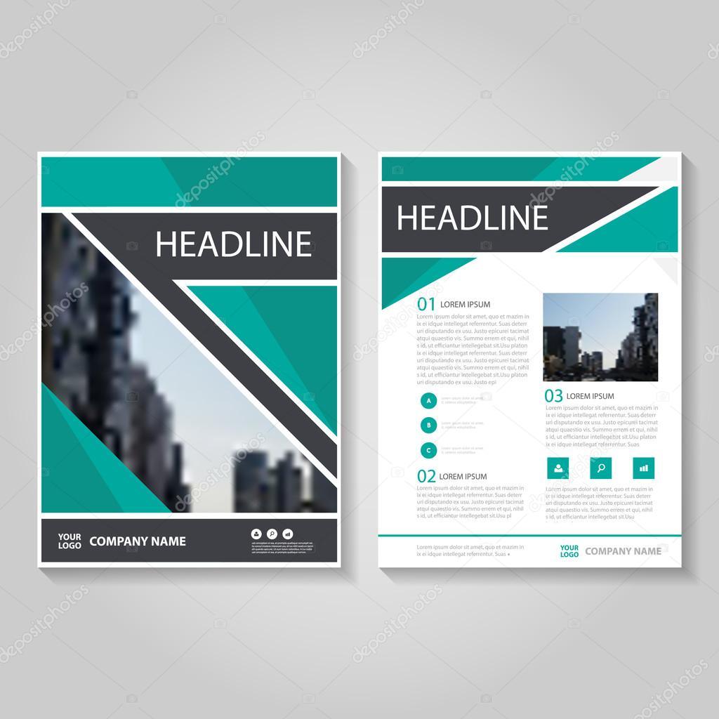 Green-Vektor Jahresbericht Leaflet Prospekt Flyer Vorlage entwerfen ...