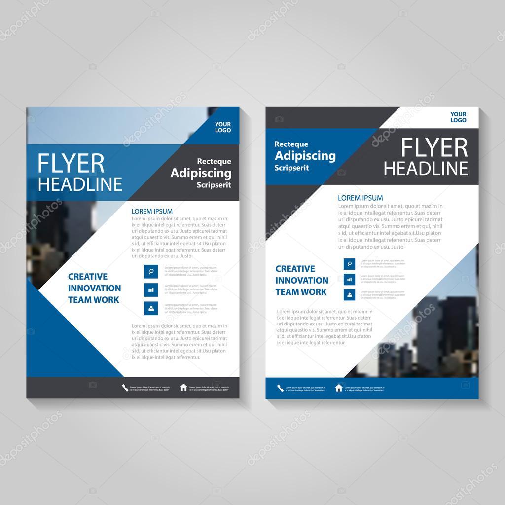 Blaue Vektor Jahresbericht Bericht Leaflet Prospekt Flyer Vorlage ...