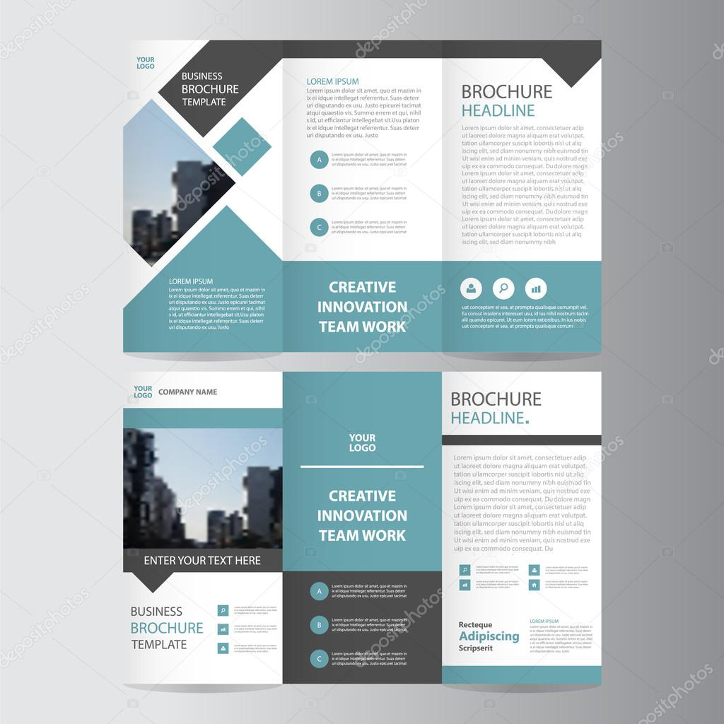 Blue Vector Trifold Annual Report Leaflet Brochure Flyer Template - Brochure flyer templates