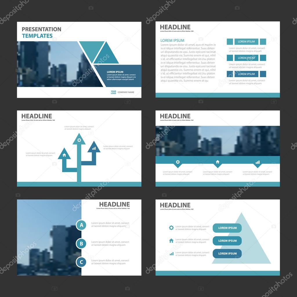 Blaue Dreieck Vorlagen Infographik Darstellungselemente flache ...