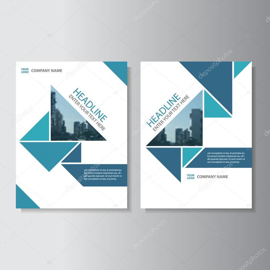 Bien connu triangle vecteur rapport annuel brochure Brochure Flyer modèle  MU21