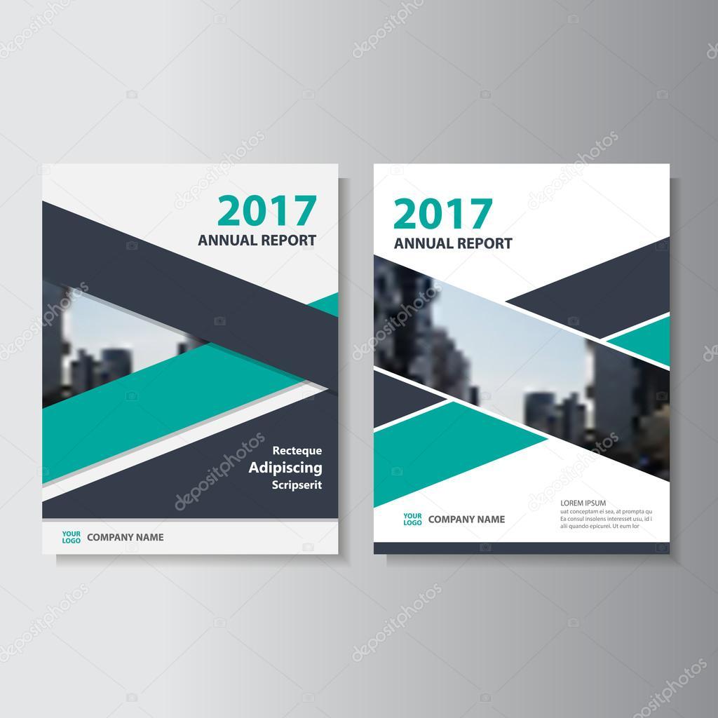 Verde negro Vector informe anual diseño de folleto folleto Flyer ...