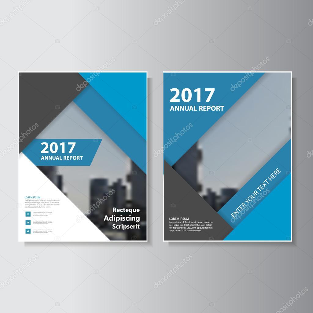 Azul negro informe anual Vector diseño de folleto folleto Flyer ...
