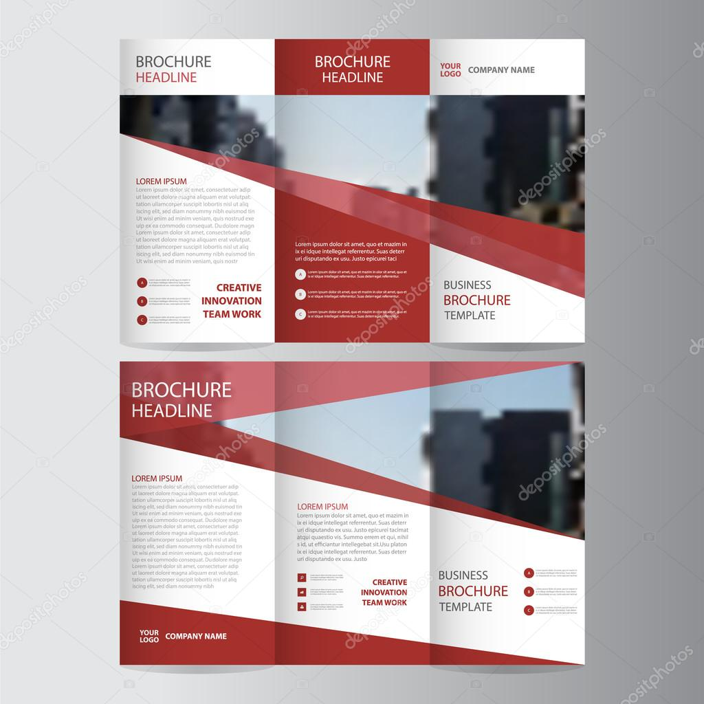 Red elegance business trifold business leaflet brochure flyer red elegance business trifold business leaflet brochure flyer template vector minimal flat design set stock cheaphphosting Choice Image